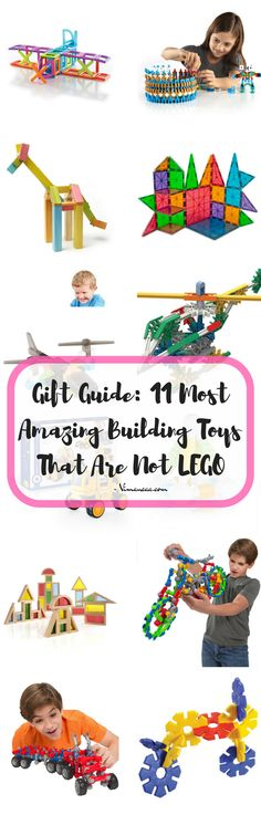 Gift Guide: 11 Most Amazing Building Toys That Are Not LEGO; Building blocks, preschool, gift ideas for toddlers, gift ideas for kids, gift ideas for preschoolers, Magnetic building blocks, building toys, stacking toys, STEM TOYS, STEAM toys, Sensory Play, Math, science, engineering @guidecraft