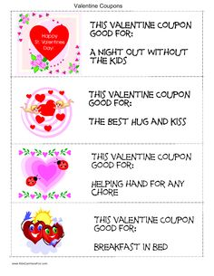 valentine's day coupon ideas for him