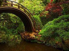 bridge to garden