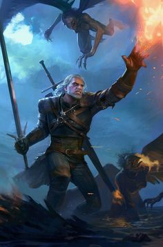 The Witcher by Maxim Marenkov The Witcher Game, The Witcher Books, The Witcher Wild Hunt, The Witcher Geralt, Witcher Art, World Of Fantasy, Dark Fantasy, Fantasy Art, Witcher Wallpaper