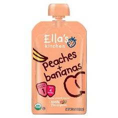 Ella's Kitchen Organic Pureed Baby Food Pouch - Stage 1 Peach Banana 3.5oz : Target
