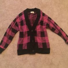 F21 Flannel Sweater Worn one time! Very warm and cute for this time of year. Forever 21 Sweaters Cardigans