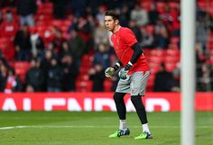 Brad Jones of Liverpool warms up prior to the Barclays Premier League match between Manchester United and Liverpool at Old Trafford on December 14, 2014 in Manchester, England.