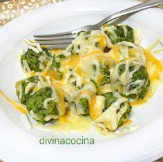 albondigas de espinacas al queso