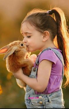 Country Girl and her rabbit