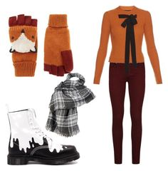 """IT'S FALL"" by the-wayward-huntress ❤ liked on Polyvore featuring Paige Denim, Accessorize, Rochas, Dr. Martens and Wilsons Leather"