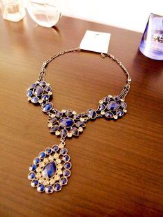 Forever 21 Vintage Blue Rhinestone Necklace | eBay 35$
