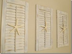Painted Shutters and Starfish diy-shell-crafts