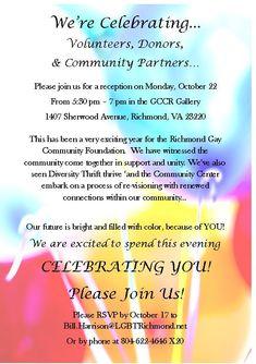 Donor appreciation invitation invitations pinterest volunteerdonor recognition invitation stopboris Gallery