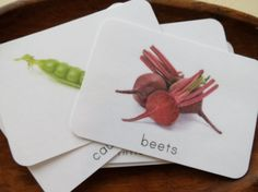 Vegetables Montessori Toddler Language Cards by freespiritkids