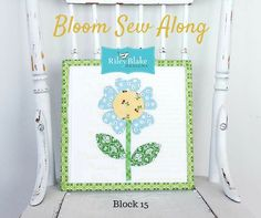 Bloom Sew Along Block 15 made with Lori Holt's Calico Days fabric line #iloverileyblake #fabricismyfun