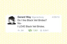 I HAD TO PIN THIS HERE MCR AND BVB ARE MY MOST FAVOURITE BANDS THIS MAKES ME SO HAPPY