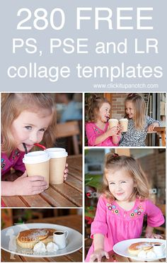 280 Free Collage Templates for Photoshop, Photoshop Elements and Lightroom
