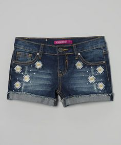 Look at this #zulilyfind! Roadster Blue Daisy Duke Denim Shorts - Girls by Vigoss #zulilyfinds