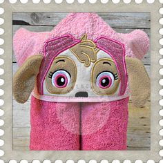 102 Best Embroidery Hooded Towel Designs Images Hooded Bath