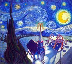 starry night - Google Search Vincent Van Gogh, Pop Art Movement, Famous Artwork, Catholic Art, Pop Surrealism, American Artists, Oeuvre D'art, Art History, History Images