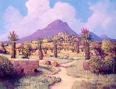 Aloes in the Little Karoo Landscape Paintings, Landscapes, African Paintings, South African Artists, Frame Sizes, Face, Outdoor, Paisajes, Outdoors