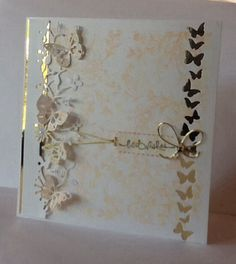 Memory Box Card -                         Kensington Border & Butterfly Delights.