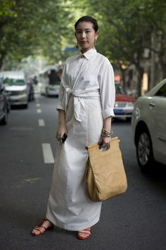 White on White, Shanghai | Street Fashion | Street Peeper | Global Street Fashion and Street Style