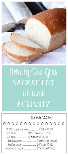 Our Activity Day Girls just had an awesome activity. We made bread for the Sacrament. Learn how we did it.