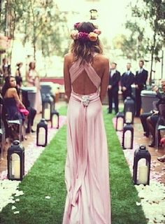 Gorgeous wrap-style bridesmaid dress
