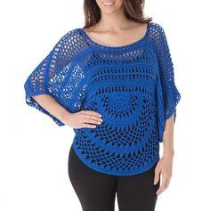 Dolman Sleeve Crochet Top...More ideas for festival gear!
