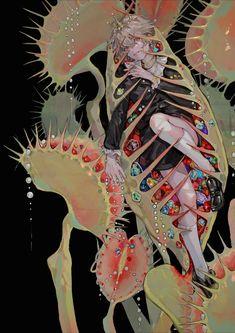 Pretty Art, Cute Art, Art Sketches, Art Drawings, Arte Obscura, Arte Sketchbook, Art Japonais, Surreal Art, Animes Wallpapers