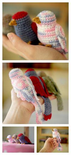 Crochet Bird PatternA free crochet pattern for making these...