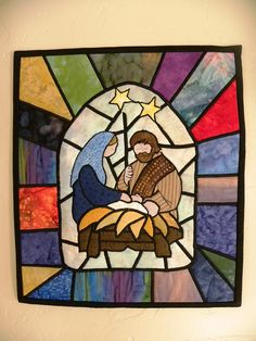 (For the front window) .Oh Holy Night by waymoorefunquilts, via Flickr