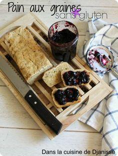 Pain aux graines & à l'huile d'olive sans gluten - Vegan