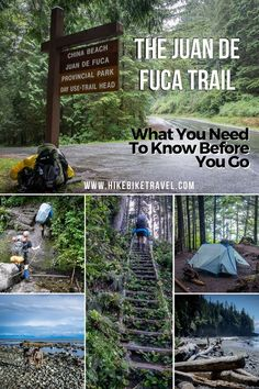 hiking backpack design Planning to backpack the 47 km Juan de Fuca Trail on the west coast of Vancouver Island? Banff, China Beach, West Coast Trail, Visit Canada, Colorado Hiking, Hiking Trails, Hiking Gear, Hiking Training, Hiking Food