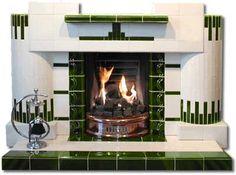 Cadiz Art Deco complete tiled fireplace