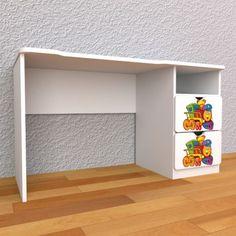 MojeKralovstvo.sk Detský písací stôl so zásuvkami pravý - Lokomotíva