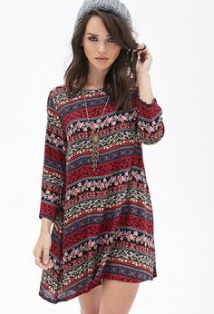 Floral Tribal Print Tunic - Dresses - 2000120696 - Forever 21 UK