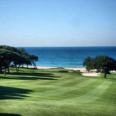 A view down to the beach from the golf course in Vale do Lobo, Algarve, Portugal Public Golf Courses, Best Golf Courses, Portugal, Golf Photography, Landscape Photography, St Andrews Golf, Coeur D Alene Resort, Sea Activities, Augusta Golf