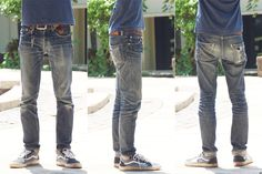 Fade of the Day - Aye! Denim Fellowcraft (8 Months, 3 Washes). http://hddls.co/fotd-aye-denim