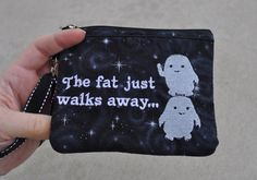 Doctor Who Wallet Wrislet with Embroidered Tardis, and Adipose Style Five on Etsy, $25.00