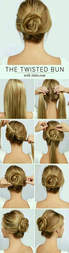 Twist Bun #Beauty #Trusper #Tip