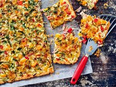 Vegetable Pizza, Quiche, Food And Drink, Vegetables, Breakfast, Red Peppers, Morning Coffee, Quiches, Vegetable Recipes
