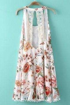 Floral dress (back)