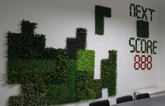 Artificial hedge series products for game design on the wall, very cute and fashionable design idea~