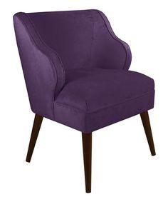 Another great find on #zulily! Aubergine Modern Velvet Chair #zulilyfinds