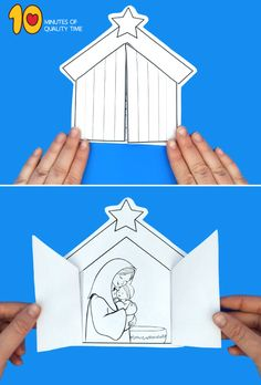 Mother Mary and Baby Jesus Craft - Krippele Christmas Crafts For Kids To Make, Preschool Christmas, Christmas Nativity, Kids Christmas, Preschool Bible Lessons, Bible Activities For Kids, Preschool Crafts, Catholic Crafts, Church Crafts