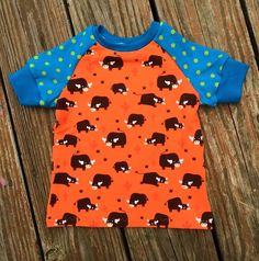 Handmade 12 months Euro size 74 T-shirt high by NoNiMadewithlove