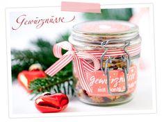 Rezept für Gewürznüsse im Weckglas zum verschenken mit Etiketten-Printable