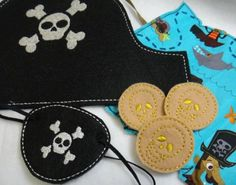 Pirate Set Felt Embroidery Design File by DejahVueDesigns on Etsy, $12.00