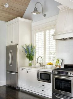 microwave placement with drawers under but with another cabinet above in our kitchen