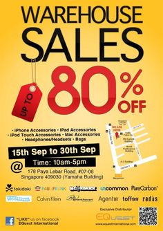 Join our facebook for more sales & events in Singapore: http://www.facebook.com/SgWarehouseSale    Blog: www.SgWarehouseSale.blogspot.com