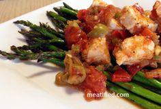 Paleo Swordfish Stew with Roast Asparagus