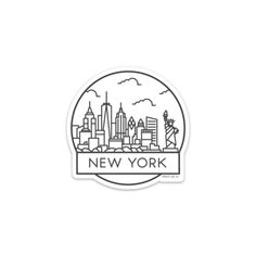 The New York City Badge Sticker Specifications: Made in the U. Sticker Size: in Material: Thick, Premium Vinyl This sticker is waterproof, scratch-proof, and weatherproof! New York Tattoo, Instagram New York, Instagram Story, Laptop Stickers, Cute Stickers, Travel Sticker, New York Trip, New York Drawing, Stylo Art